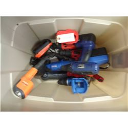 MIXED LOT CORDLESS TOOLS/MISSING CHARGERS AND BATTERIES
