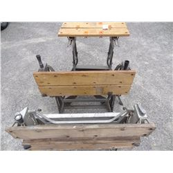 3 FOLDING WORK BENCHES *NO SHIPPING*