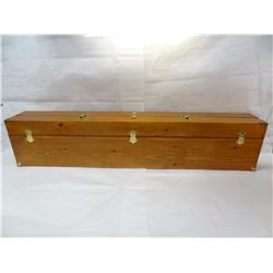 HAND CRAFTED WOOD AND BRASS MUSKET BOX *NO SHIPPING*