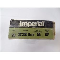 10 ROUNDS IMPERIAL 22-250 REM 55GR HP