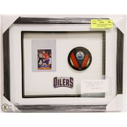 CONNOR MCDAVID ROOKIE PANINI STICKER IN SHADOW BOX