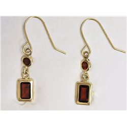 #4-14KT YELLOW GOLD GARNET (APPROX. 0.80G)