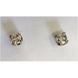 #14-14KT YELLOW GOLD DIAMOND (0.10CT) EARRINGS