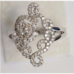 #24-STERLING SILVER CUBIC ZIRCONIA RING
