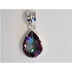 #25-STERLING SILVER MYSTIC TOPAZ PENDANT