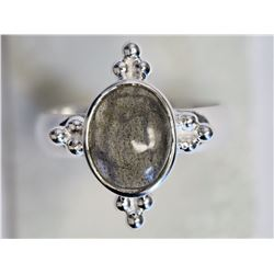 #27-STERLING SILVER LABRADORITE RING