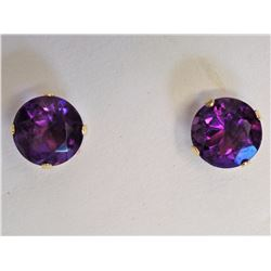 #29-14KT YELLOW GOLD AMETHYST EARRINGS