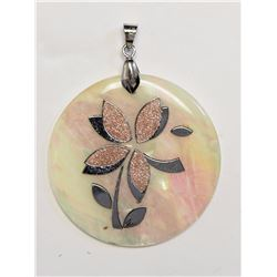 #33-STERLING SILVER MOTHER OF PEARL PENDANT