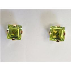 #35-10KT YELLOW GOLD PERIDOT EARRINGS