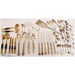 ESTATE COLLECTION OF SILVERPLATED AND BRONZE