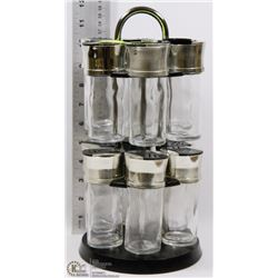 12-PC SPICE RACK SET ON SPINNER BASE