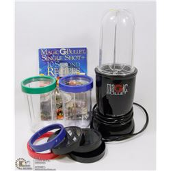 BOX W/MAGIC BULLET, 3 CUPS, LIDS AND