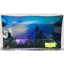 """NORTHERN LIGHTS"" 14"" RECTANGULAR HANDCRAFTED"