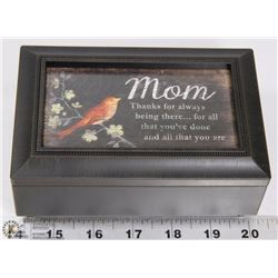 NEW MUSIC BOX WITH MOM QUOTE