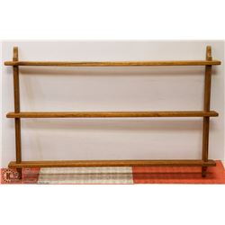WALL-MOUNT SOLID WOOD 3-TIER