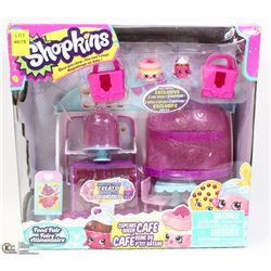 SHOPKINS CUPCAKE QUEEN CAFE FOOD FAIR TOY SET