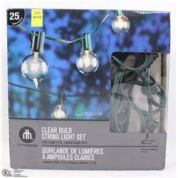 HOMETRENDS CLEAR BULB LIGHT SET (25 LIGHTS)