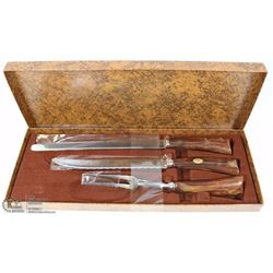 VINTAGE SHEFFIELD STAINLESS CARVING SET
