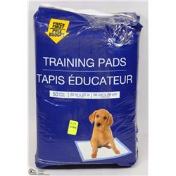 "BAG OF 50 22"" X 22"" PUPPY TRAINING PADS"