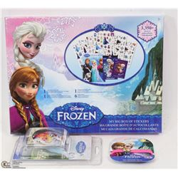 NEW ITEMS FROZEN DISNEY STICKERS 3,350 PLUS W/LED WATCH & MORE