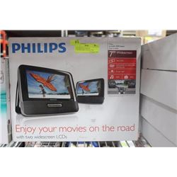 PHILIPPS DUAL SCREEN CAR/PORTABLE DVD PLAYER