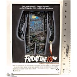 "NEW LINE PRODUCTIONS ""FRIDAY THE 13TH 3D MOVIE SIGN"