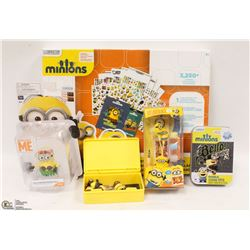 NEW ITEMS MINIONS, STICKERS 3,250 PLUS, EAR STEREO AND MORE