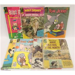SET OF 5 GOLD KEY VINTAGE COMICS LT. ROBIN CRUSOE,