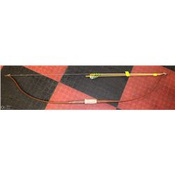 JUNIOR LONGBOW AND TWO ARROWS