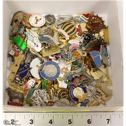 BOX OF COLLECTIBLE PINS