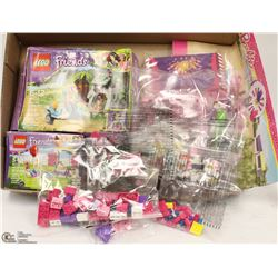 FLAT WITH GIRLS ASSORTED LEGO & MEGA BLOCKS SETS