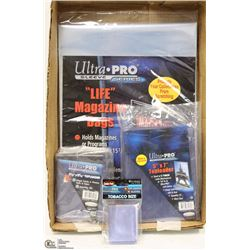 FLAT OF ASSORTED ULTRA PRO CARD & MAGAZINE