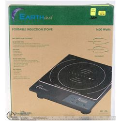 NEW EARTH CHEF PORTABLE INDUCTION STOVE 1600 WATTS