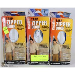 LOT OF THREE TARP ZIPPER DOOR KITS