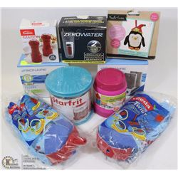 FLAT OF ASSORTED HOUSEHOLD ITEMS INCLUDING