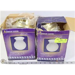 2 SHAWSON LIGHTING FM 411 GW CEILING LIGHTS