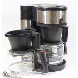 TIM HORTONS COFFEE MAKER WITH 2 POTS AND 2 COFFEE