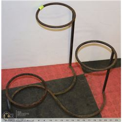 WROUGHT IRON PLANTER - HOLDS 3 PLANTS -
