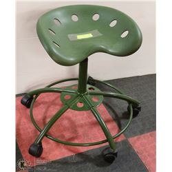GREEN RETRO TRACTOR SEAT CHAIR