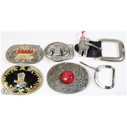 BOX OF COLLECTIBLE BELT BUCKLES