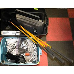 TOTE OF ASSORTED CABLES SOLD WITH TOTE OF