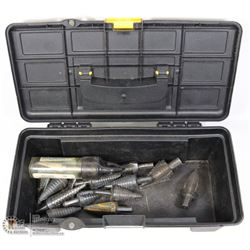 TOOLBOX WITH 16 PIECES OF MULTI DIAMETER STEP