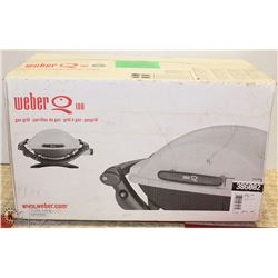 NEW WEBER Q100 SILVER GAS GRILL