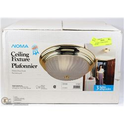 NEW NOMA 3 LIGHT CEILING FIXTURE