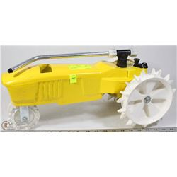 CAST IRON ACE YELLOW TRACTOR SPRINKLER