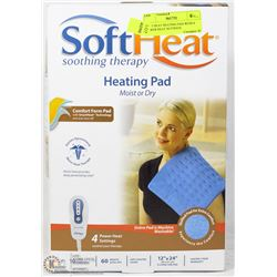SOFT HEAT HEATING PAD WITH 4 POWER HEAT SETTINGS