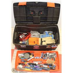 BLACK & DECKER TOOLBOX WITH TOOLS
