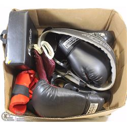LARGE BOX OF KICKBOXING/MARTIAL ARTS