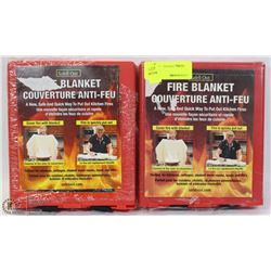 LOT OF TWO FIRE BLANKETS