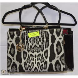 REPLICA MICHAEL KORS TIGER PRINT HAND BAG W/TAGS